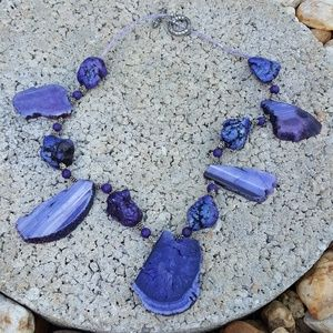 Jewelry - Purple agate geod necklace